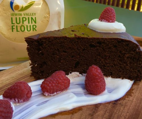 Gluten free Reduced Carb Lupin Choc Beetroot cake